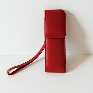 Vintage Coach Glasses Case Strap Lipstick Case Red
